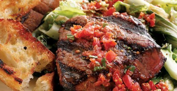 grilled beef tenderloin amp escarole kitchendaily com