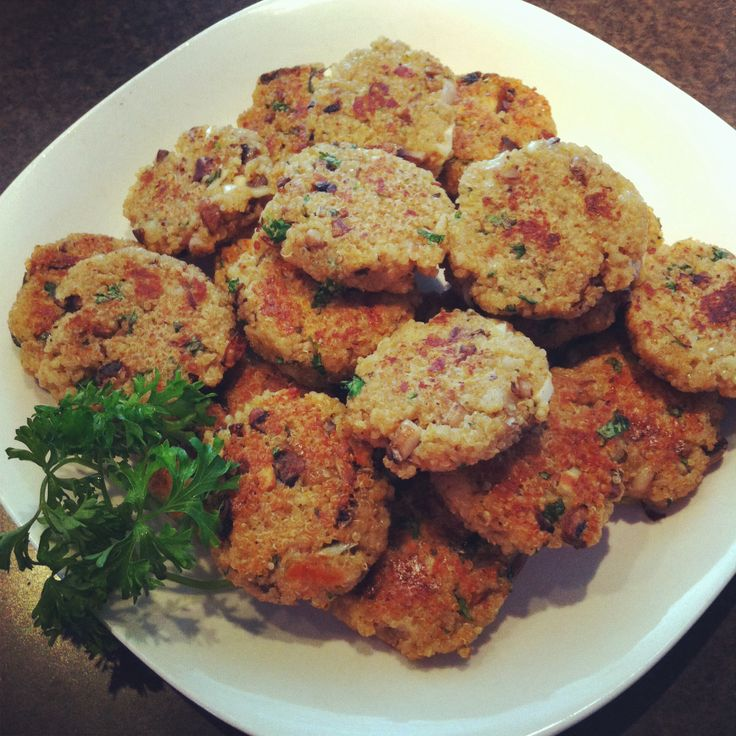 Garlic & Cheese Quinoa Patties Recipe — Dishmaps