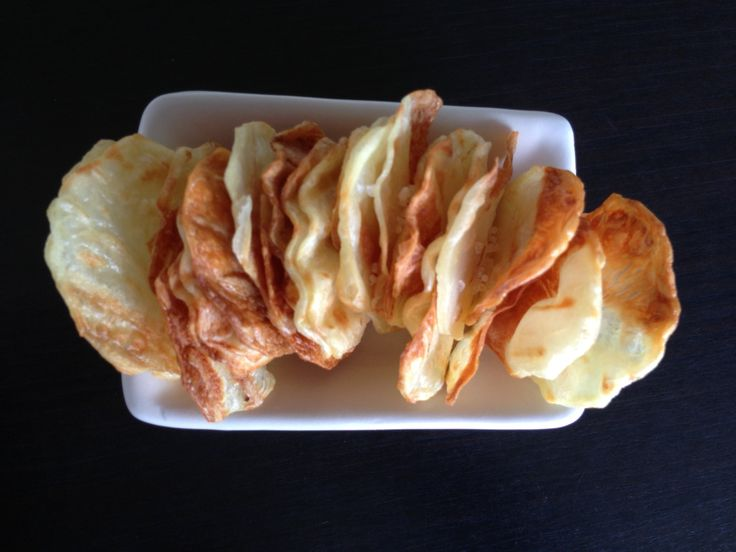 homemade #patatoe #chips baked in the oven #fatfree #healthyfood