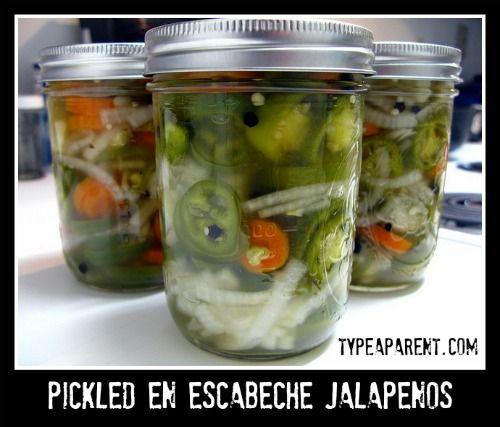 Pickled En Escabeche Jalapenos Recipe | Canning and Food | Pinterest