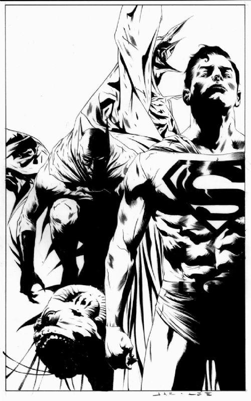 Batman Jae Lee Comic Book Drawing