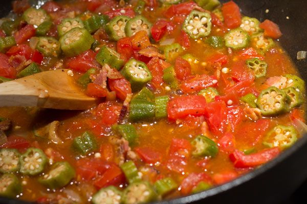 Jim's fav recipe for okra and tomatoes | Side dishes | Pinterest