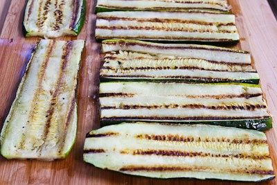 "Grilled Zucchini ""Lasagna"" Recipe with Italian Sausage, Tomato, and..."