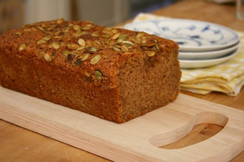 Pumpkin tea cake. I made this yesterday because I had some leftover ...