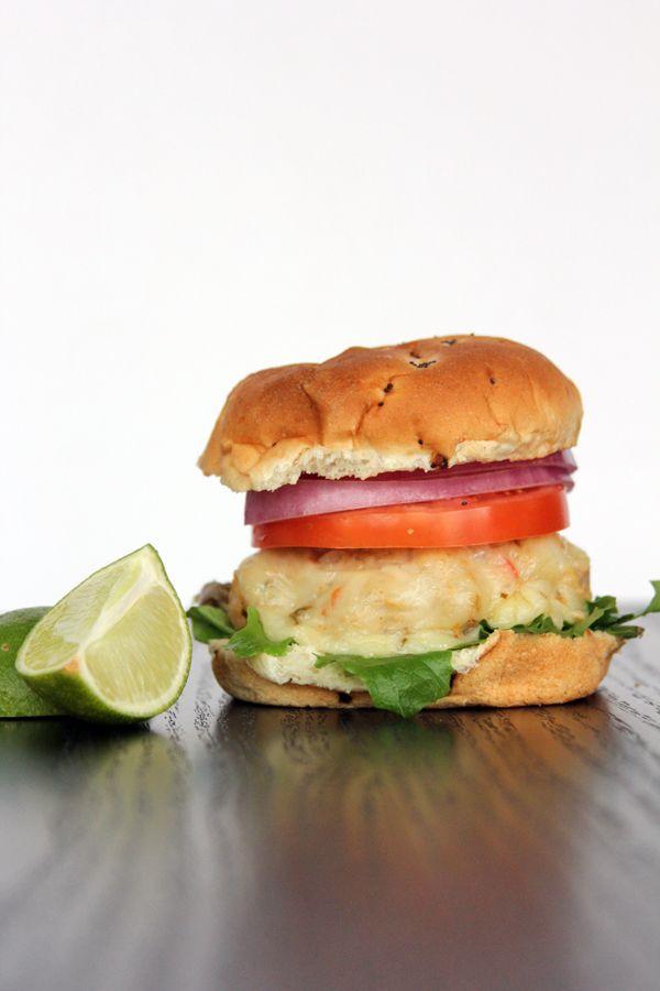 Chili Chicken Lime Burgers | @Melanie Bauer at Melanie Makes