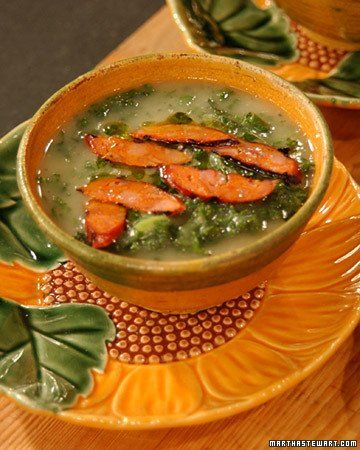 Portuguese Kale Soup from Martha Stewart No really. This was so ...