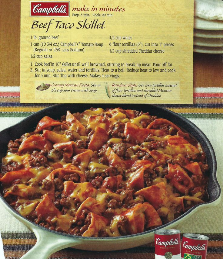 Beef Taco Skillet   Casseroles, Gratins & Lasagnas   Pinterest