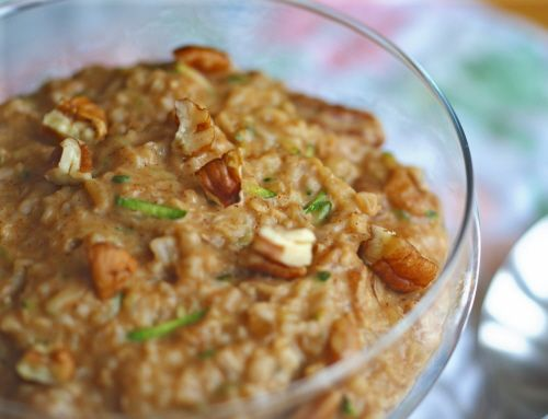 Zucchini Bread Oatmeal. | Ethereal Food | Pinterest