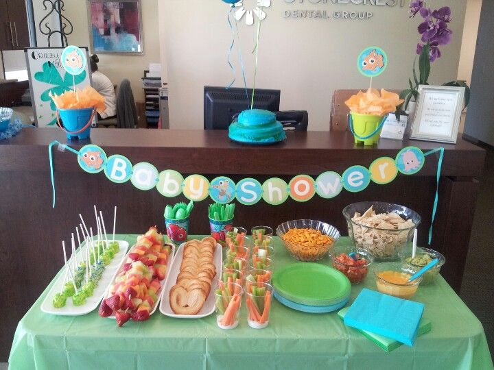 finding nemo office baby shower party ideas pinterest