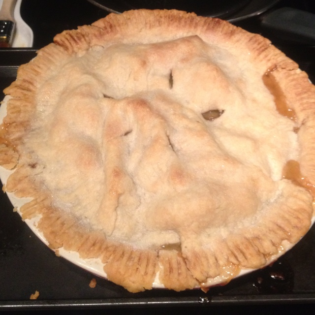 Homemade Apple Pie With Smokey Bacon And Cheddar Cheese ...