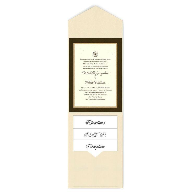 5 x 7 V-Flap Folio Pocket Wedding Invitations  - 3 Layers by MyGatsby.com