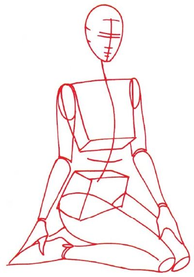 how to draw a suit and tie step by step