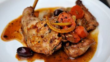 American Hunter - Braised Rabbit with Olives and Preserved Lemons