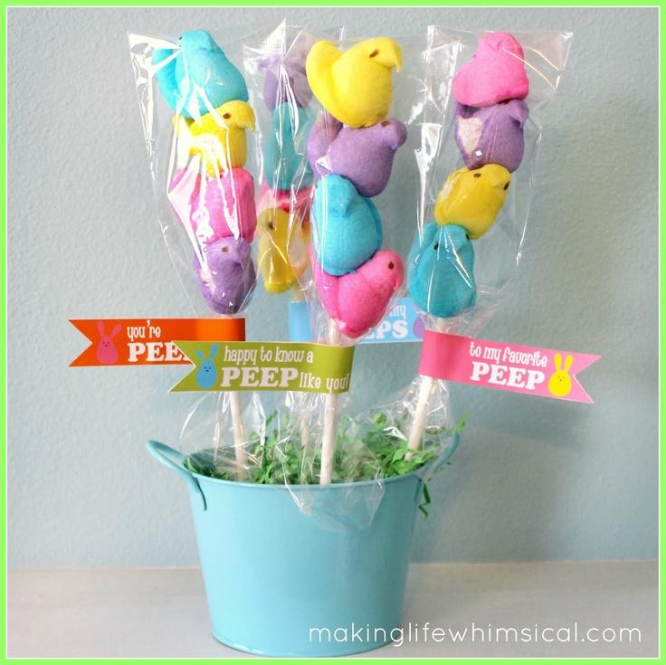 ... in my house as Peep-pops, peep kababs and shish-ke-peeps! Fun and easy
