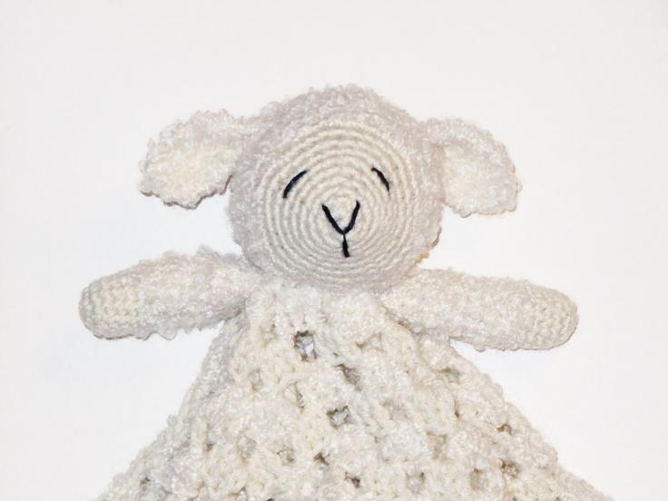 Free Crochet Lamb Cuddle Blanket Pattern : Lamb Lovey CROCHET PATTERN instant download - blankey ...