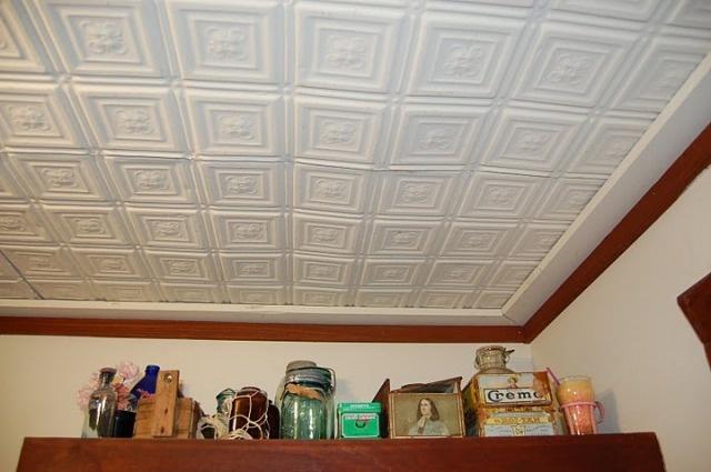 Pressed tin bathroom ceiling  Bathroom ideas  Pinterest