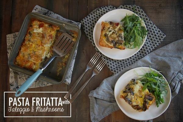 Pasta Frittata with Taleggio & Mushrooms (@Tracy Stewart Benjamin)