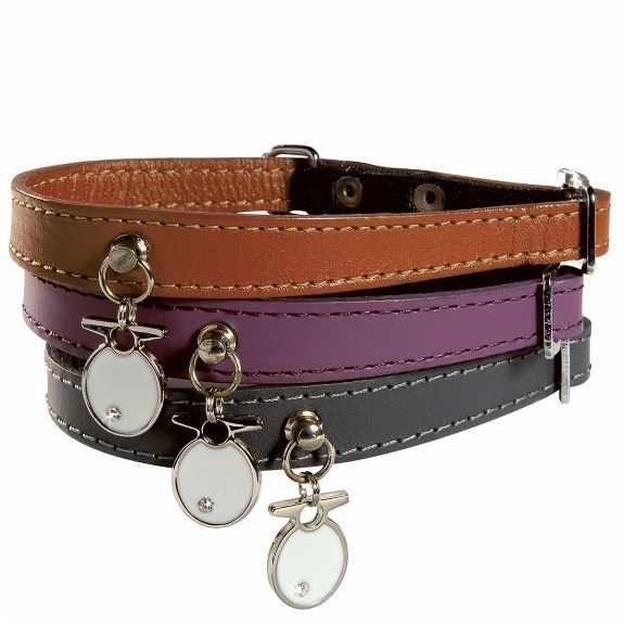 Bobby Ocean Leather Cat Collar