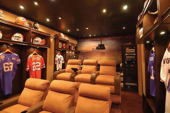 Man Cave Locker Room : Sports locker room home theater