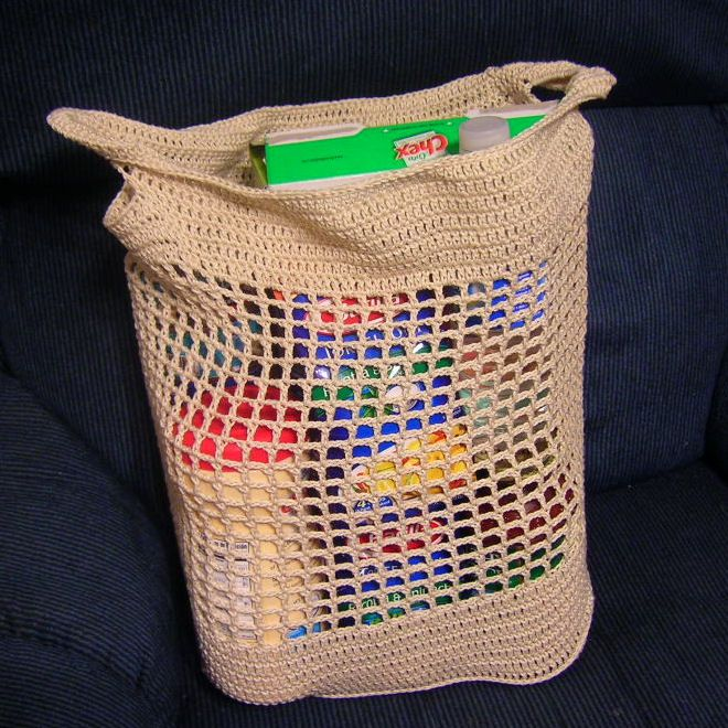 Julies Shopping Bag ~ free pattern Crochet gifts Pinterest