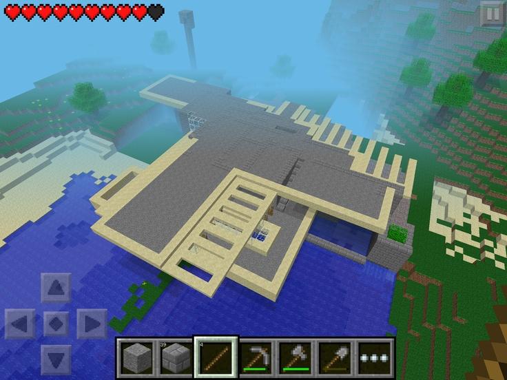 Second floor | minecraft falling water build | Pinterest