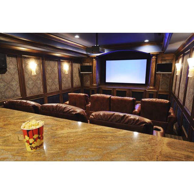 movie theater basement dream home pinterest