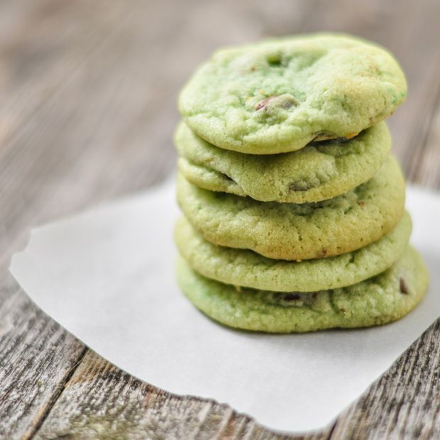Mint Chocolate Chip cookies. Just use your favorite chocolate chip ...