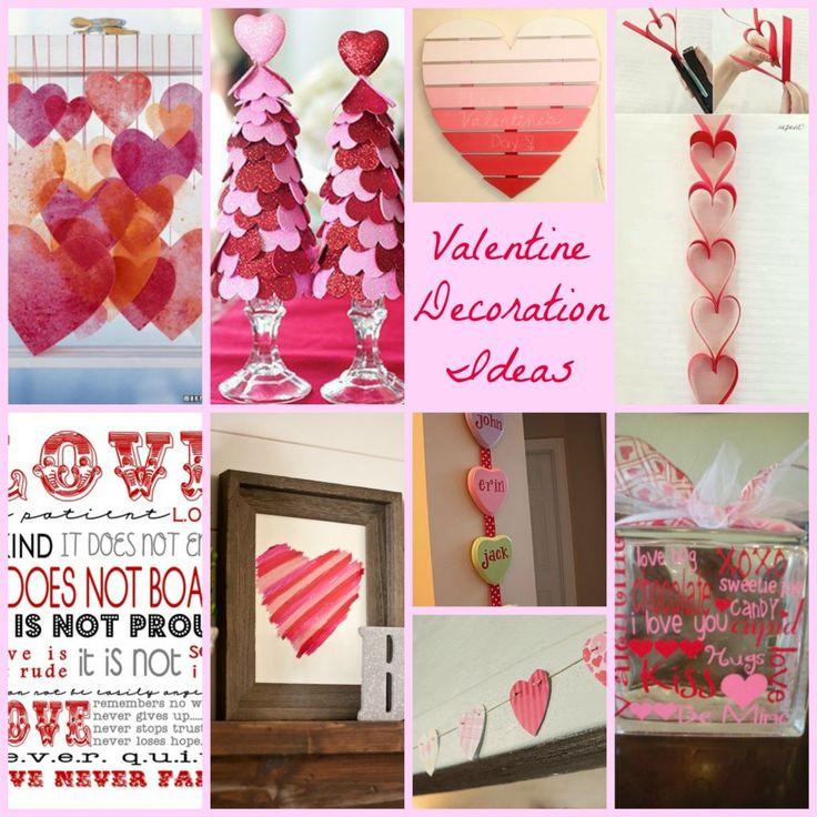 Valentine decoration ideas valentines pinterest for Home made valentine decorations
