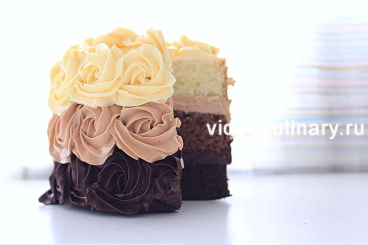 Вкусный торт с бисквитными коржами