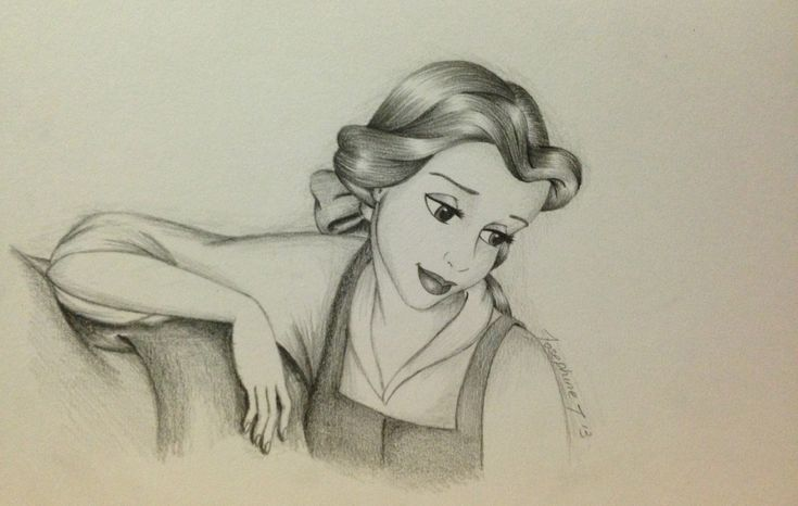 Pencil drawing of Belle - Beauty and the Beast | Awesome ...