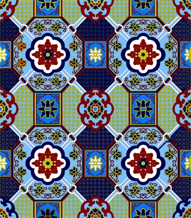 I love turquoise and red together - this design reminds me of majolica tiles