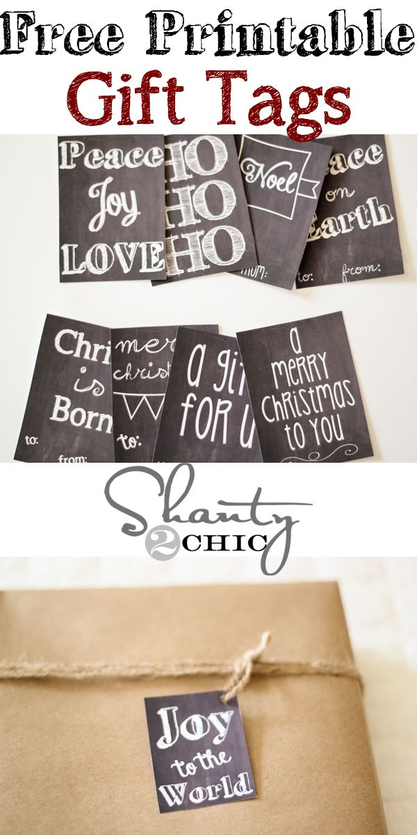So many FREE Printable Gift Tags!!!  Love them all!