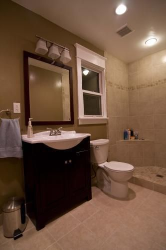 Remodeled the bathroom! Added new shower and tiling. Cost: $3000. #diditmyself