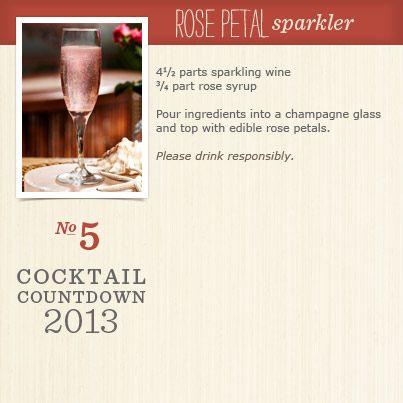 Rose Petal Sparkler Recipe | Beverages | Pinterest
