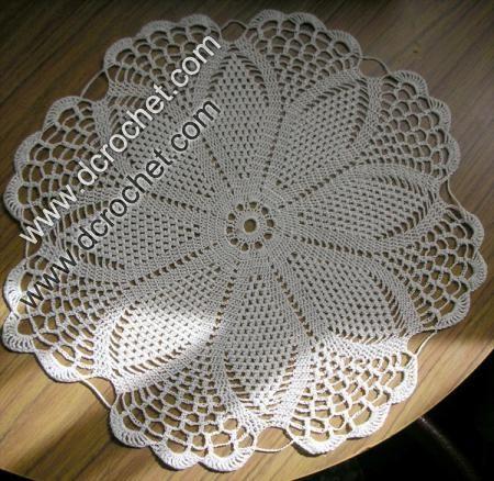 Crochet doily chart patterns free crochet patterns for Tapetes de crochet