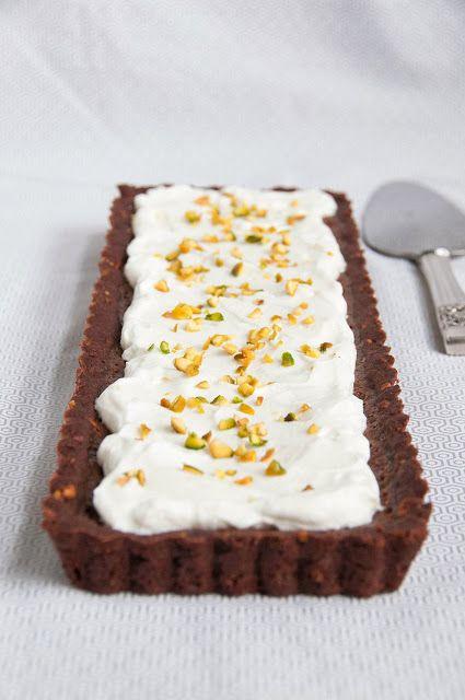 Milk Chocolate and Pistachio Striped Tart (Recipe)