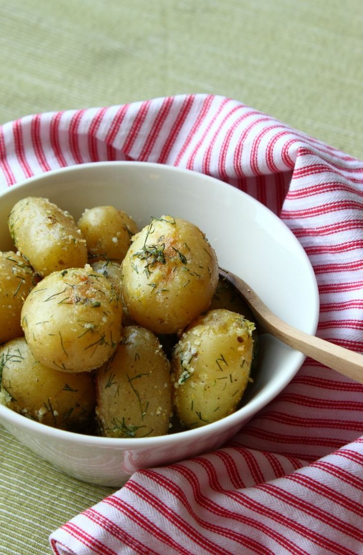 Salt Roasted New Potatoes with Dill | Food, potatoes - baked, boiled ...