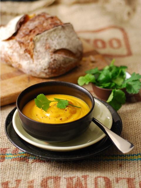 Thai spiced pumpkin soup - so quick, easy and yummy. Made it with a ...
