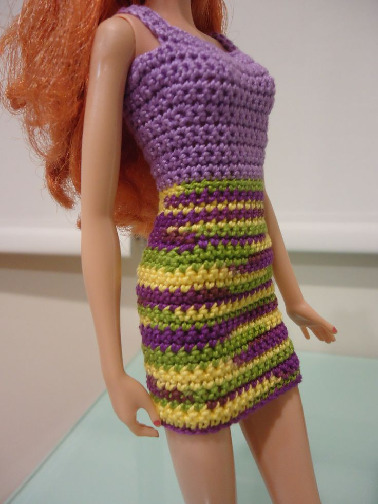 Free Crochet Dress Patterns Easy : Barbie Simple Sheath Dress (Free Crochet Pattern)