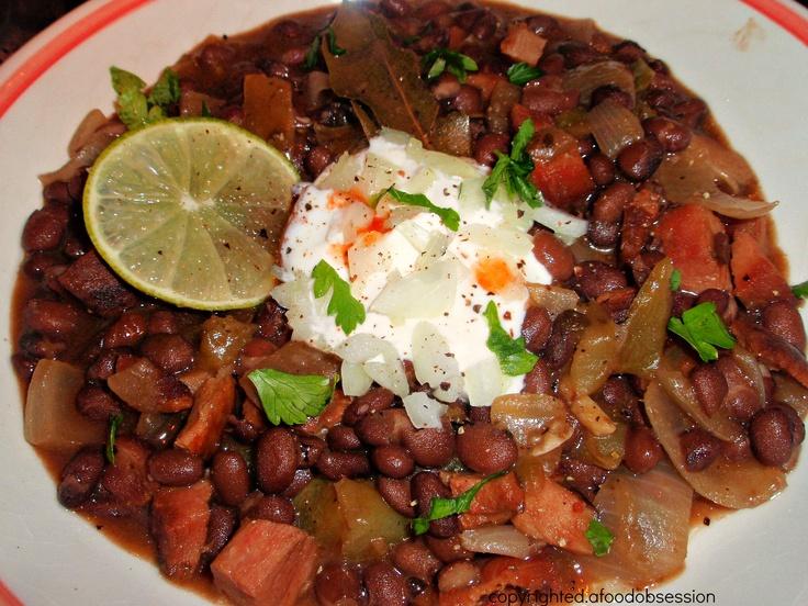 CUBAN BLACK BEAN SOUP | Can I taste that... | Pinterest