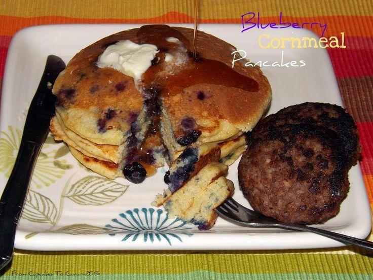 Blueberry Cornmeal Pancakes | Breakfast, anyone? | Pinterest