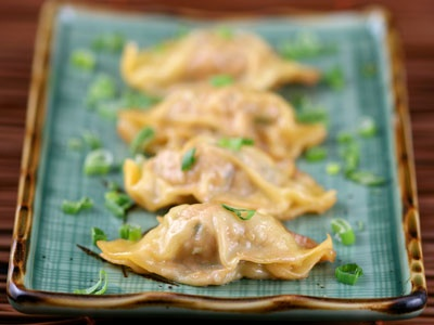 Pork and Chive Dumplings | Delish | Pinterest