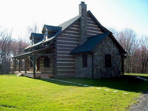Square logs log cabin pinterest for Square log cabin