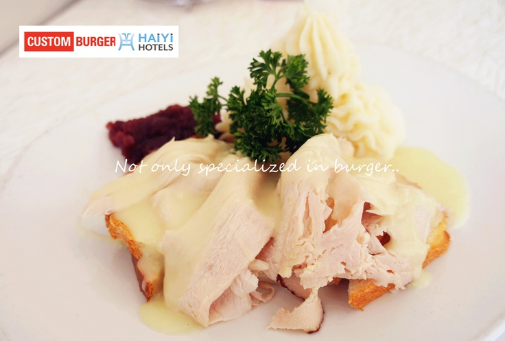 Open Faced Hot Turkey Sandwich served with a side of Mashed Potatoes ...