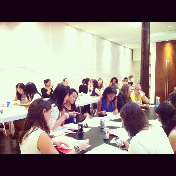 Participants of our Go Lead workshop hard at work. #LevoLeagueLab