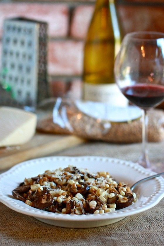 corn or chopped tomatoes farro and millet risotto from farro risotto ...