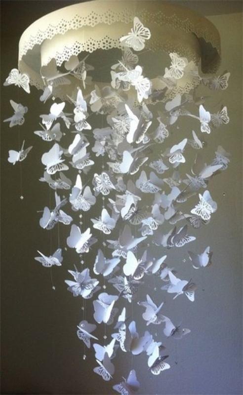 Люстра с бабочками как сделать 802