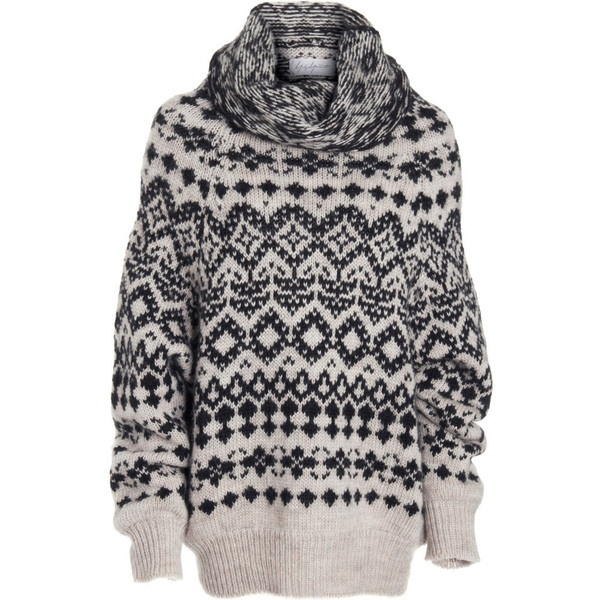 Yohji Yamamoto Fair Isle Sweater - Beige size 2 found on Polyvore http://findanswerhere.com/womensfashion
