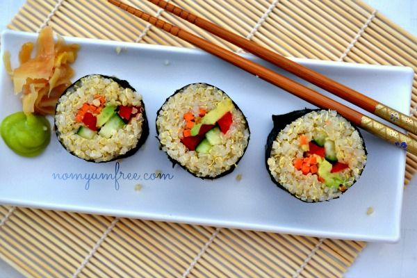 Easy Vegan Quinoa Sushi Recipe | Food:Cheap, Easy, Healthy! | Pintere ...