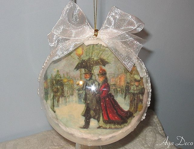 How+To+Decoupage+An+Ornament | Decoupage Ball Christmas Ornament | Flickr - Photo Sharing!